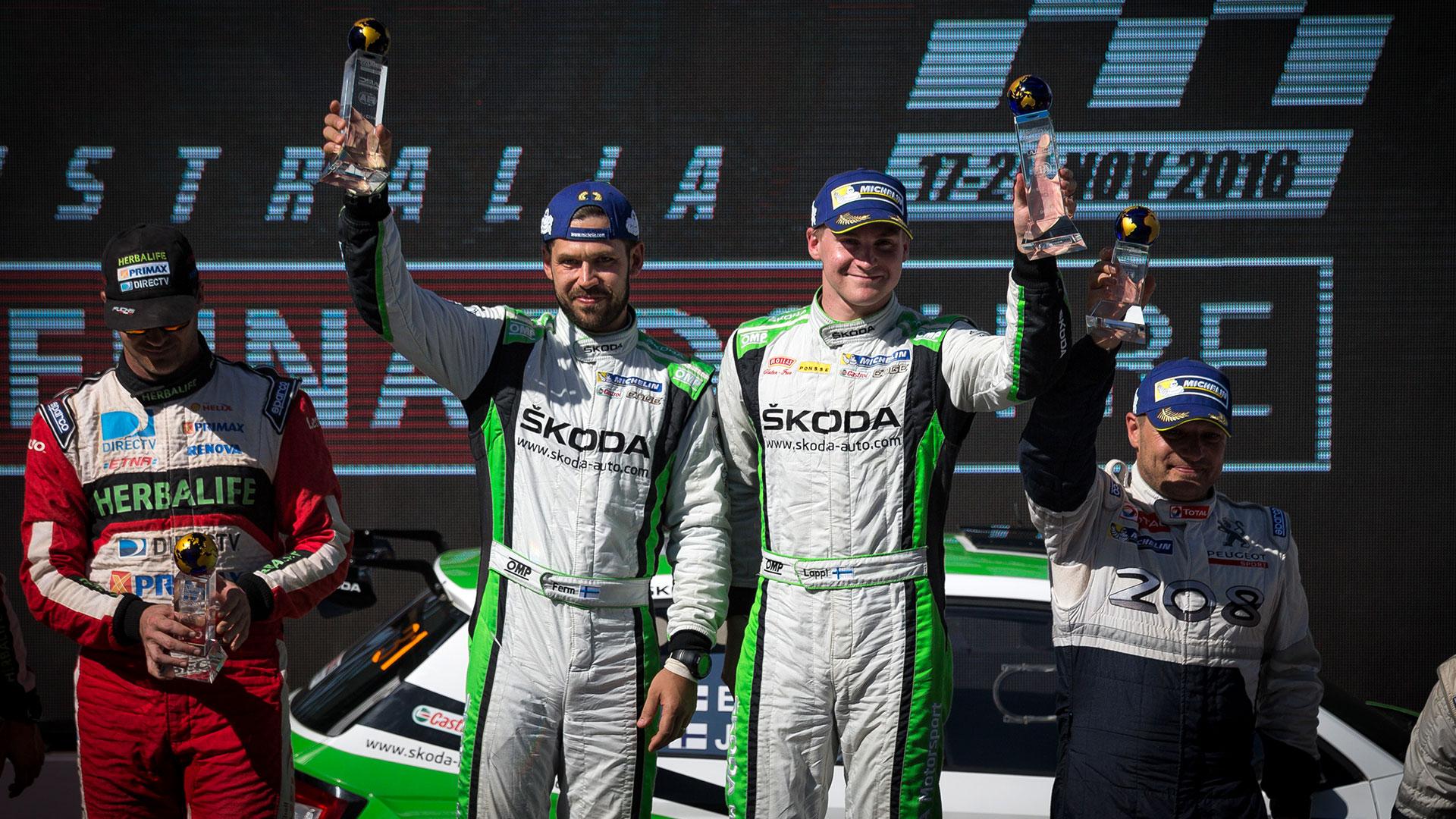 Esapekka Lappi / Janne Ferm, ŠKODA Motorsport, ŠKODA FABIA R5. Kennards Hire Rally Australia 2016