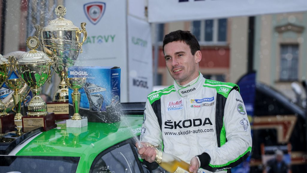 Jan Kopecký, ŠKODA Motorsport. Rallye Šumava Klatovy 2017