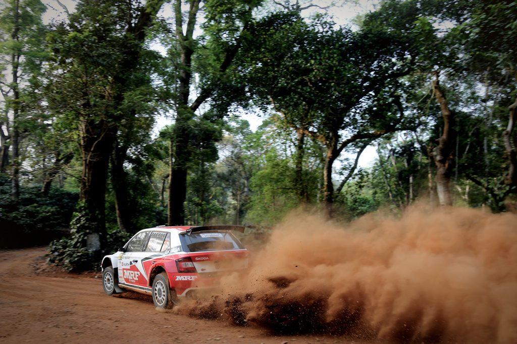 Gaurav Gill / Stéphane Prévot, ŠKODA FABIA R5, ŠKODA Team MRF. Rallye d'Inde 2017