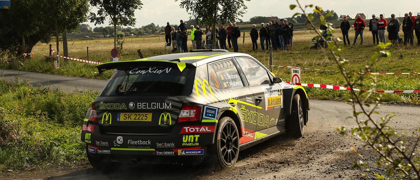 Sébastien Bedoret en mode attaque à l'East Belgian Rally