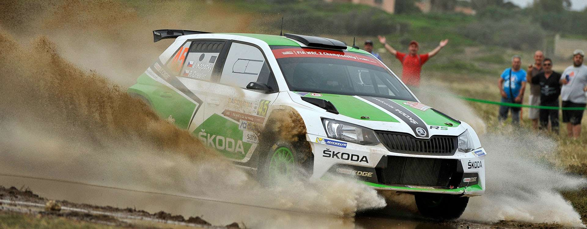 Rally Sardegna: Third place for Jan Kopecký in the ŠKODA Fabia R5