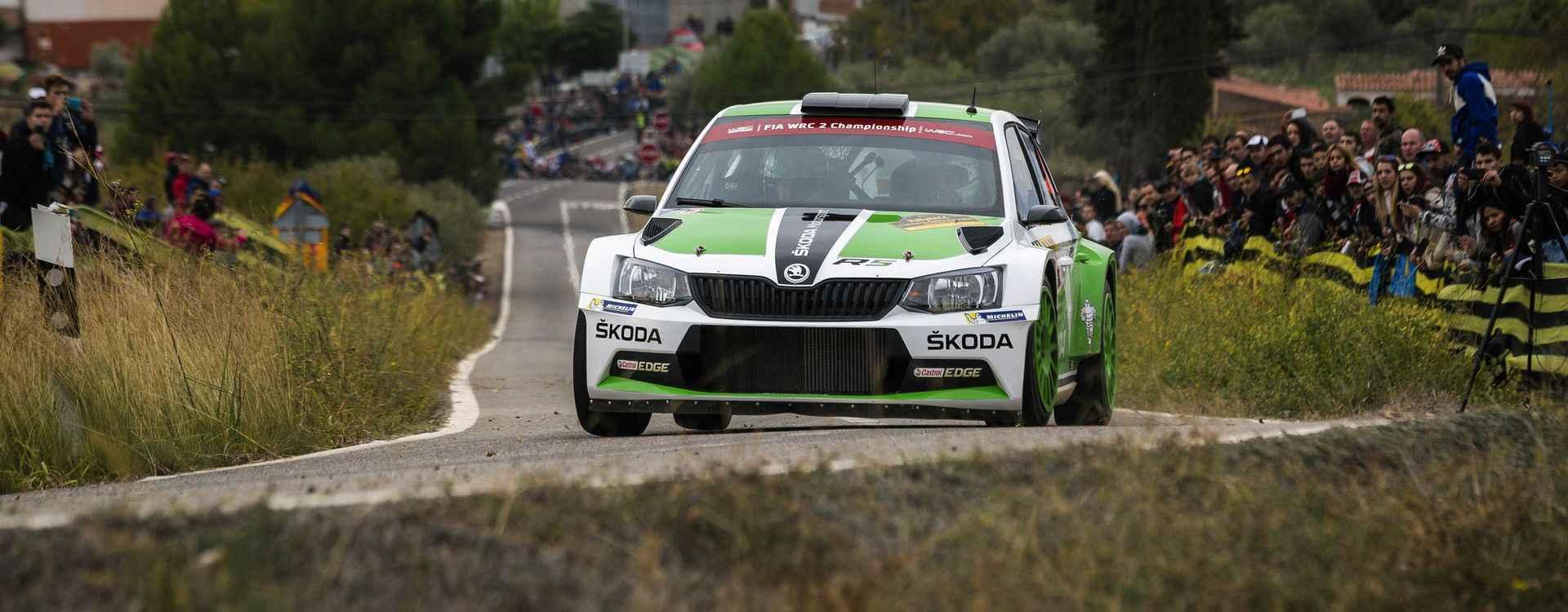 Katalánská rally: Double a titul pro tým Škoda Motorsport