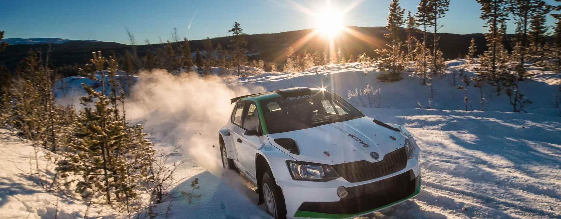 Foto: Testy ŠKODA Motorsport v Norsku