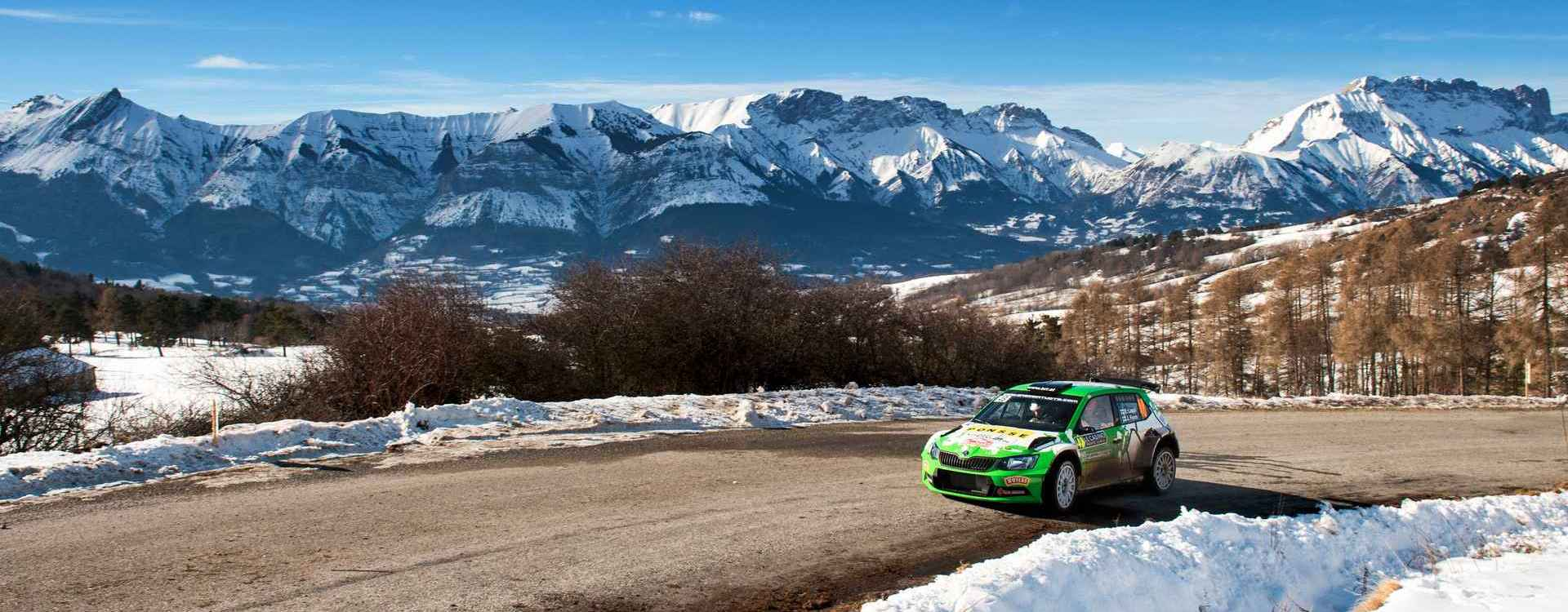Rallye Monte Carlo: Flying Fabia R5 cars impress on the mountain stages