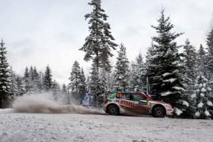 Johan Kristoffersson / Patrik Barth, ŠKODA FABIA R5, Kristoffersson Motorsport. Rally Sweden 2016