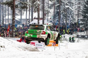 Ole Christian Veiby / Stig Rune Skjærmoen, ŠKODA FABIA R5, Printsport Oy. Rally Sweden 2016