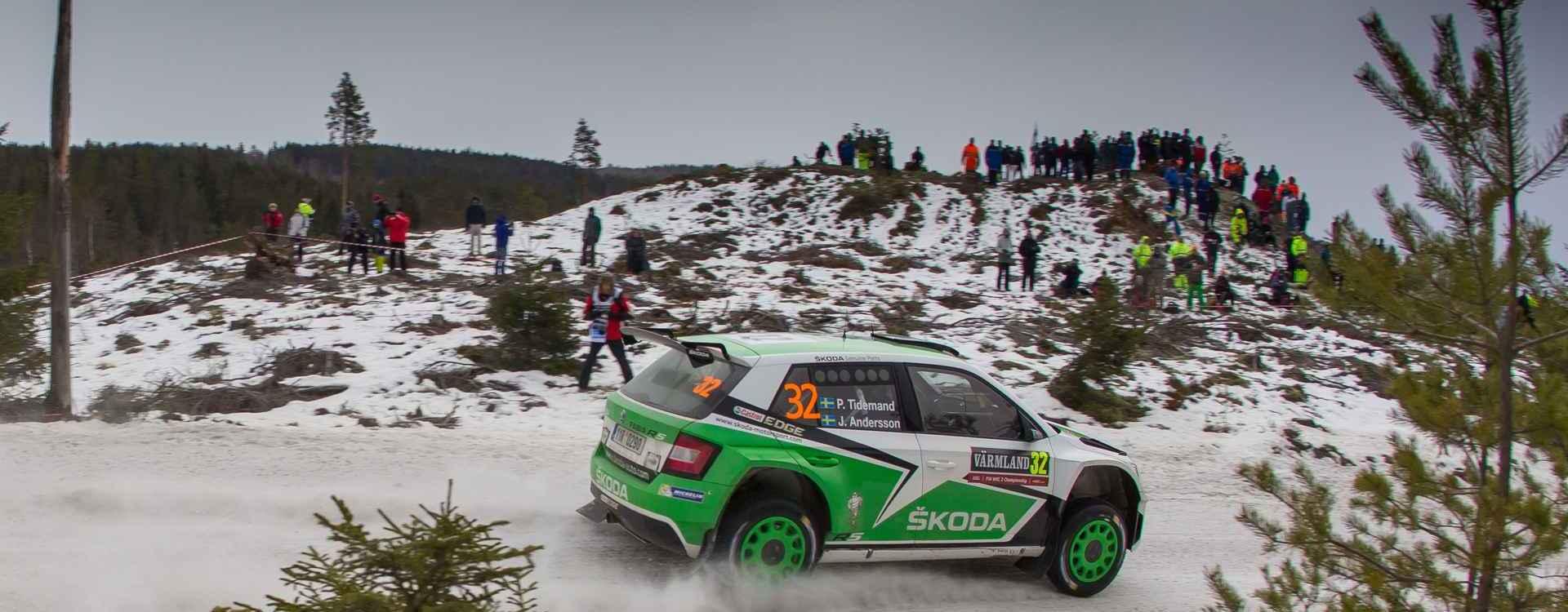 Švédská rally: Začátek nevyšel týmu ŠKODA Motorsport podle jeho představ