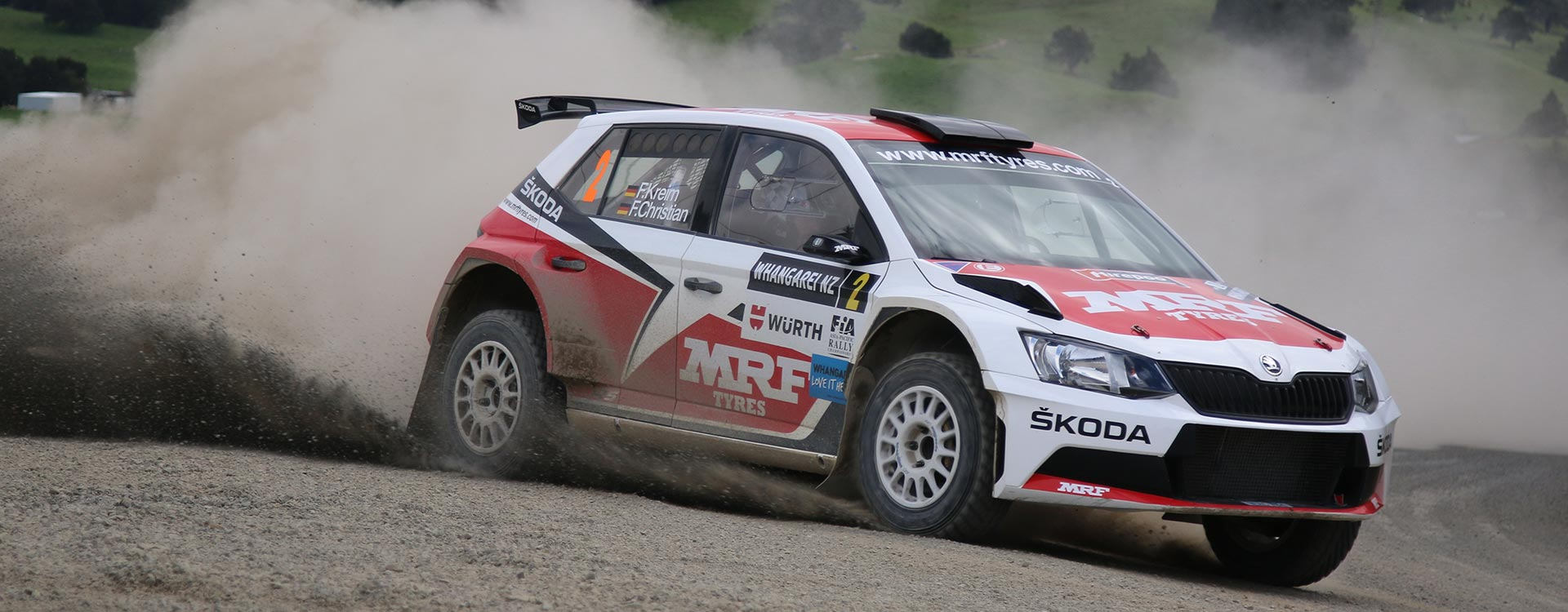 PHOTO: ŠKODA MRF team at the Rally of Whangarei