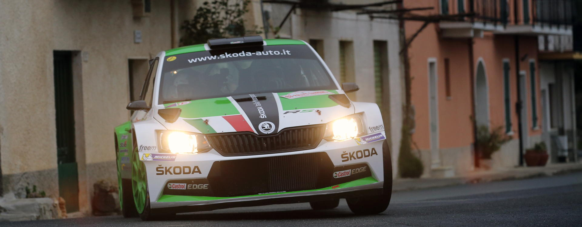 PHOTO: ŠKODA Italia Motorsport at the Rally Sanremo