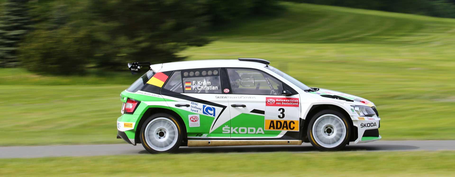 FOTO: Fabian Kreim vybojoval při Sachsen Rallye další vítězství v DRM