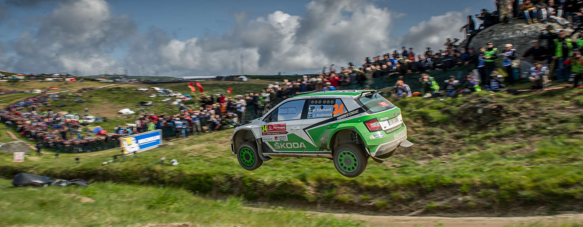 Pontus Tidemand gives ŠKODA Motorsport the first win of the season in the WRC2