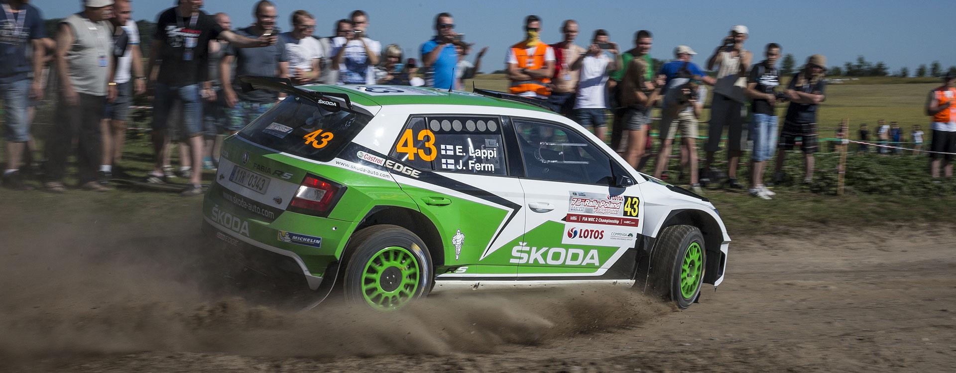 WRC 2: ŠKODA looks to continue winning ways at full-throttle show in Poland