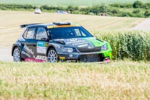 Vojtěch Štajf/František Rajnoha, ŠKODA Fabia R5, Klokočka ŠKODA Czech National Team. Rally Hustopeče 2016
