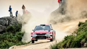 Hubert Ptaszek/Maciej Szczepaniak, ŠKODA Fabia R5, The Ptock. Rally de Portugal 2016