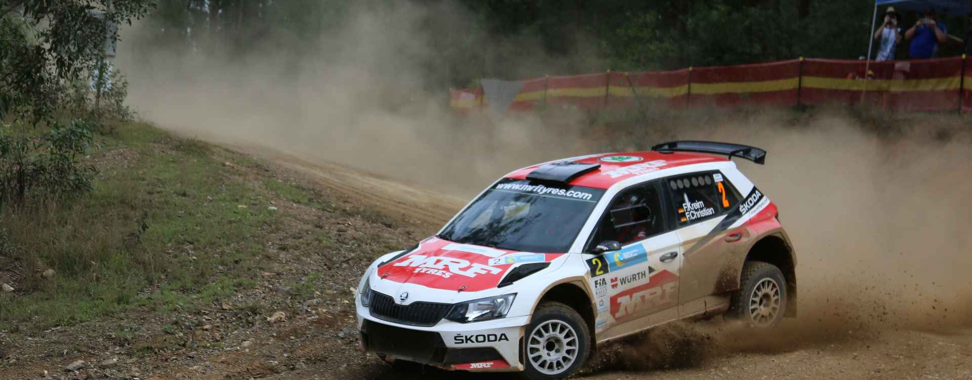PHOTO: ŠKODA MRF team at the International Rally of Queensland