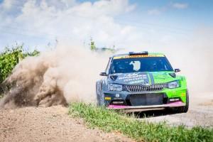 Vojtěch Štajf / František Rajnoha, ŠKODA FABIA R5, Klokočka ŠKODA Czech National Team. Rally Hustopeče 2016