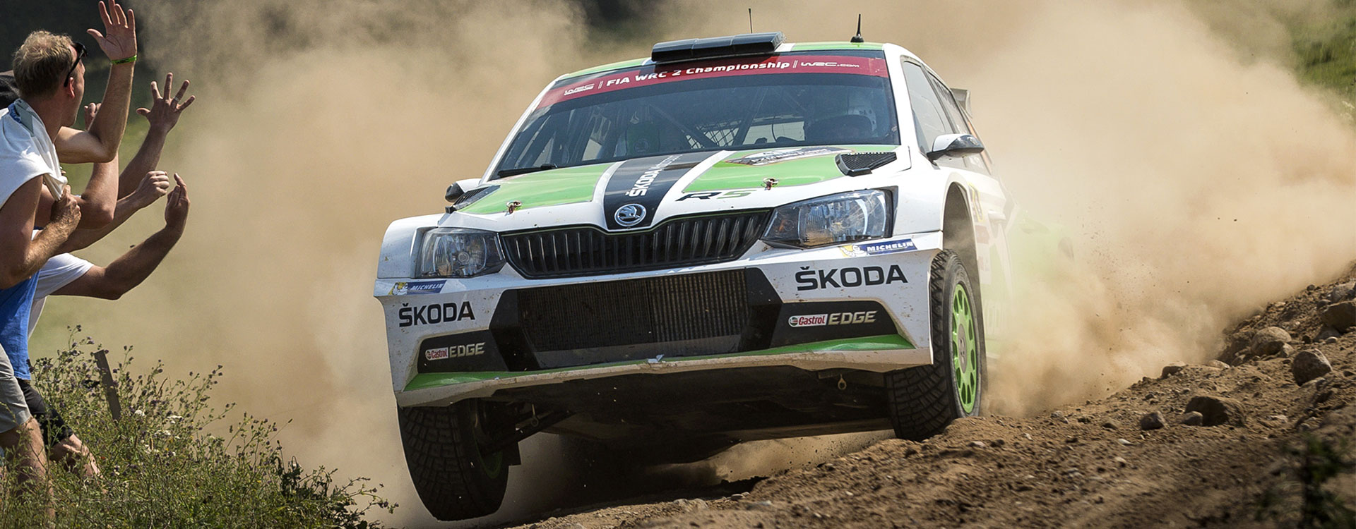 Thrilling battle in Poland: Lappi takes the lead in the ŠKODA duel