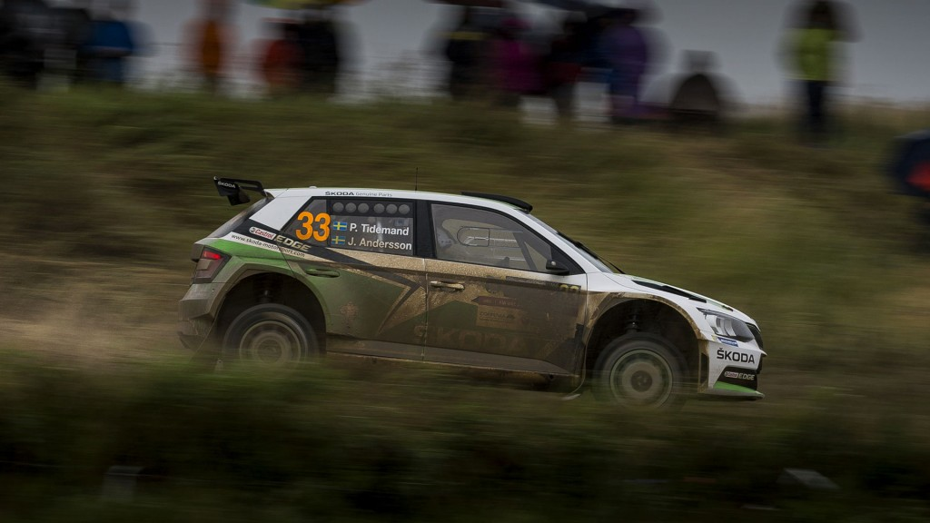 Pontus Tidemand / Jonas Andersson, ŠKODA Fabia R5, ŠKODA Motorsport. Rally Poland 2016