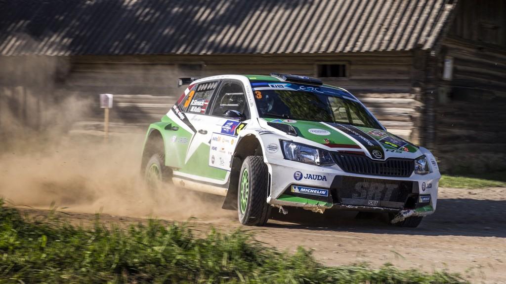 Ralfs Sirmacis / Māris Kulšs, ŠKODA Fabia R5, Sports Racing Technologies. Rally Estonia 2016