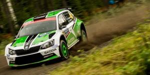 Pontus Tidemand / Jonas Andersson, ŠKODA Fabia R5, ŠKODA Motorsport. Rally Finland 2015