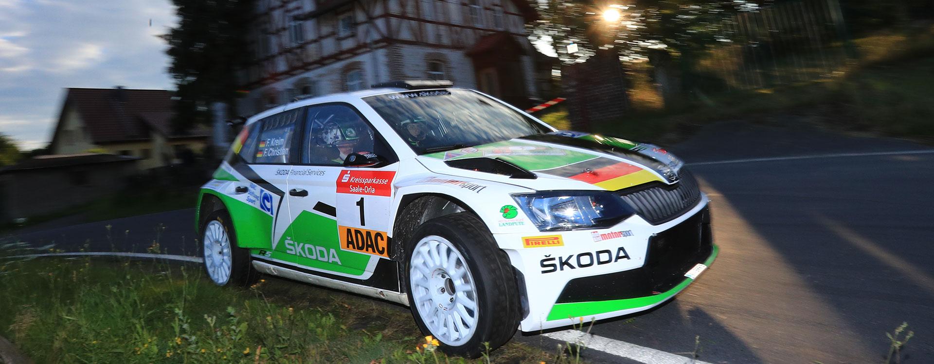 PHOTO: Fourth DRM win for Kreim at the Thüringen Rallye