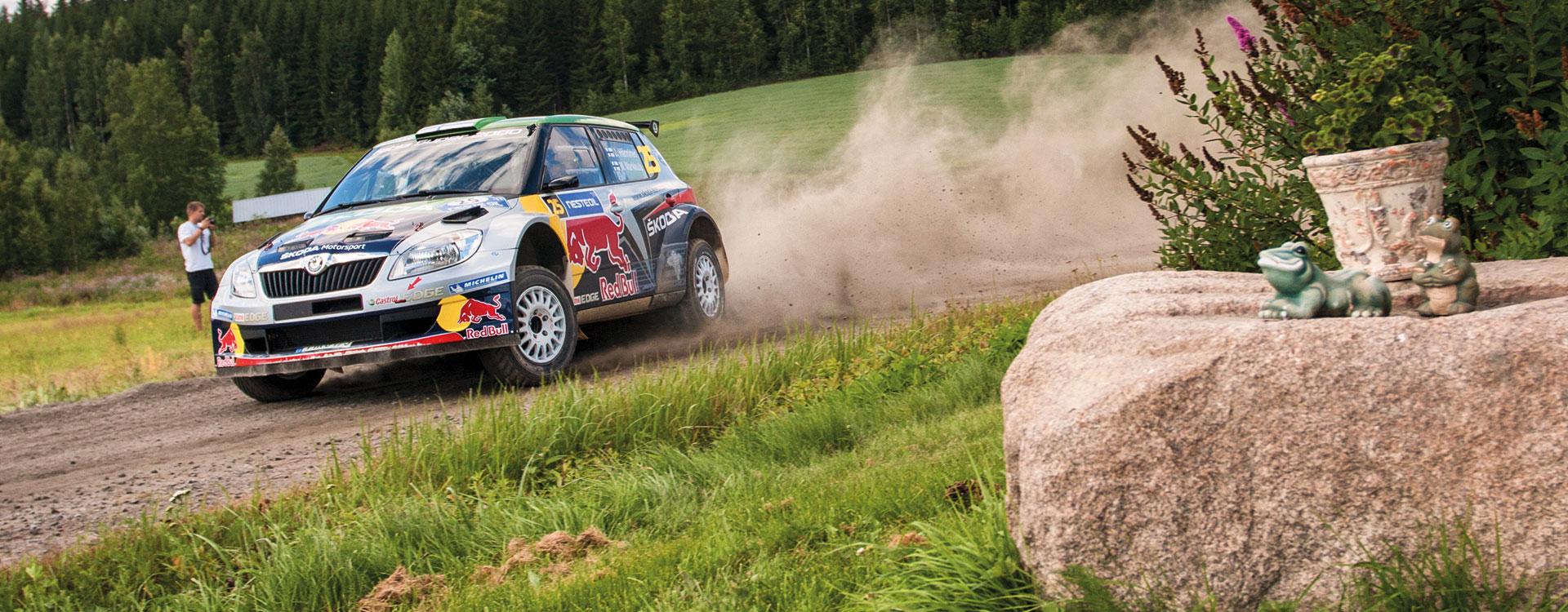Z archivu: Při Finské rally 2011 zářil Hänninen s Fabií S2000