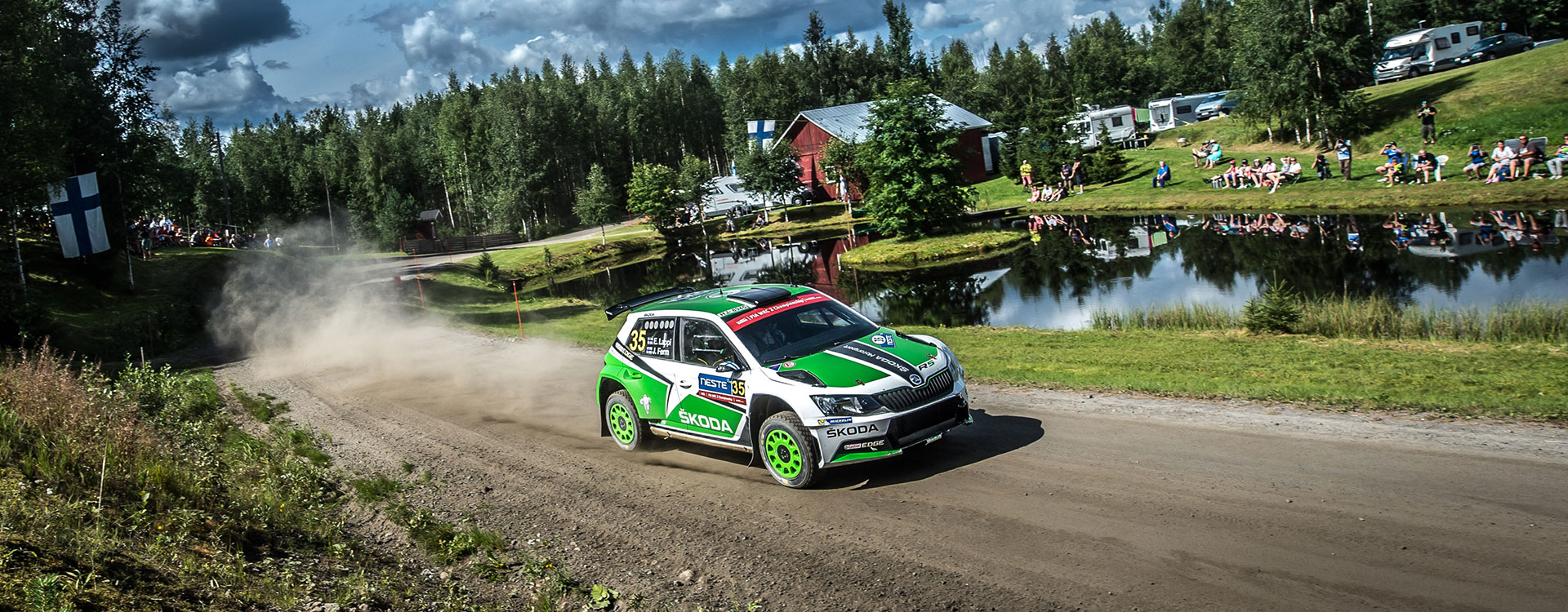 ŠKODA extends its lead at the Rally Finland