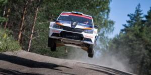 Teemu Suninen / Mikko Markkula, ŠKODA Fabia R5, Team Oreca. Rally Finland 2016