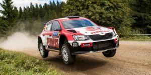 Scott Pedder / Dale Moscatt, ŠKODA Fabia R5, Scott Pedder. Rally Finland 2016