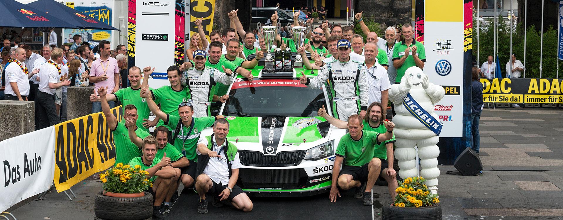 ŠKODA at the Rally Germany: Confident ahead of the asphalt classic