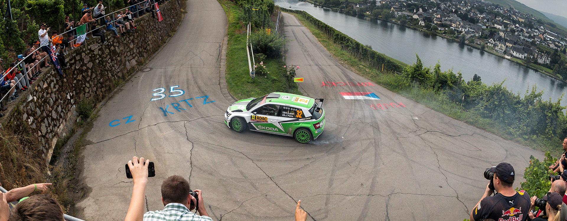 WRC Germany: Good start for ŠKODA among the vineyards