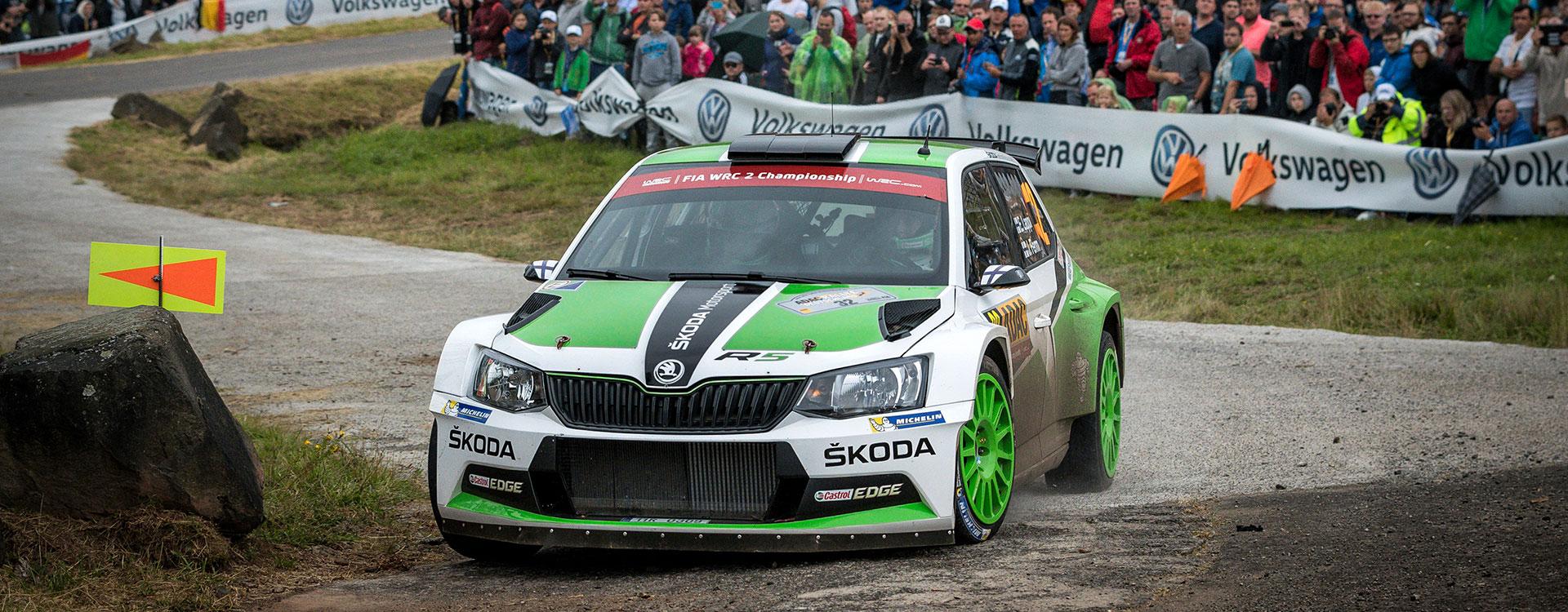 ŠKODA extends lead at the Rally Germany