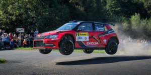 Jan Kopecký / Pavel Dresler, ŠKODA FABIA R5, ŠKODA Motorsport. Barum Czech Rally Zlín 2016