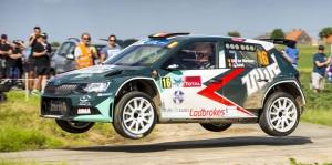 Ghislain de Mevius / Johan Jalet, ŠKODA Fabia R5, Ice Pol Racing Team. Ypres Rally 2016