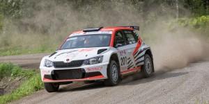 Mikko Lehessaari / Reeta Hämäläinen, ŠKODA FABIA R5, Hannu's Rally Team. XEROX Ralli 2016 (Photo: Marko Kyöstilä)