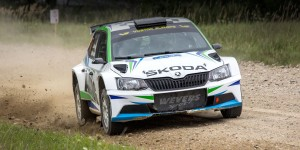 Albert von Thurn und Taxis / Bjorn Degandt, ŠKODA FABIA R5, Wevers Sport. 300 Lakes Rally 2016 (Photo: Šarunas Gumauskas)