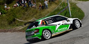 Umberto Scandola / Guido D'Amore, ŠKODA FABIA R5, Car Racing. Rally del Friuli Venezia Giulia 2016 (Photo: Massimo Bettiol)