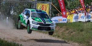 Ralfs Sirmacis / Māris Kulšs, ŠKODA FABIA R5, Sports Racing Technologies. auto24 Rally Estonia 2016