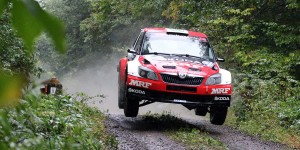 Pontus Tidemand / Emil Axelsson, ŠKODA FABIA R5, Team MRF. Rally Hokkaido 2015