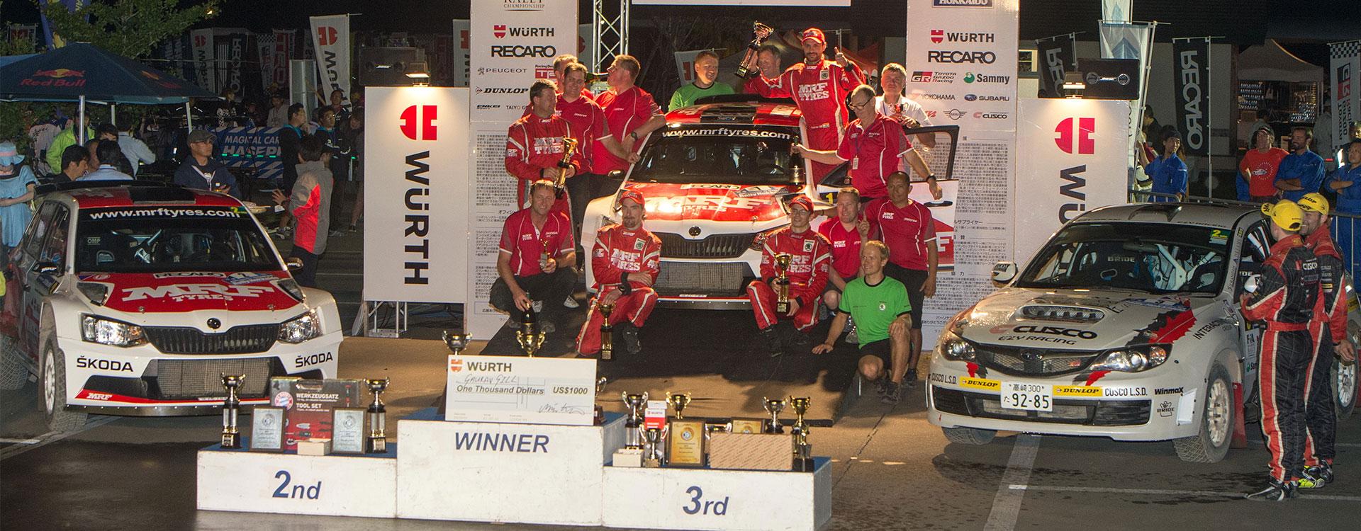 APRC in Japan: Fourth win of the season for ŠKODA and Gaurav Gill