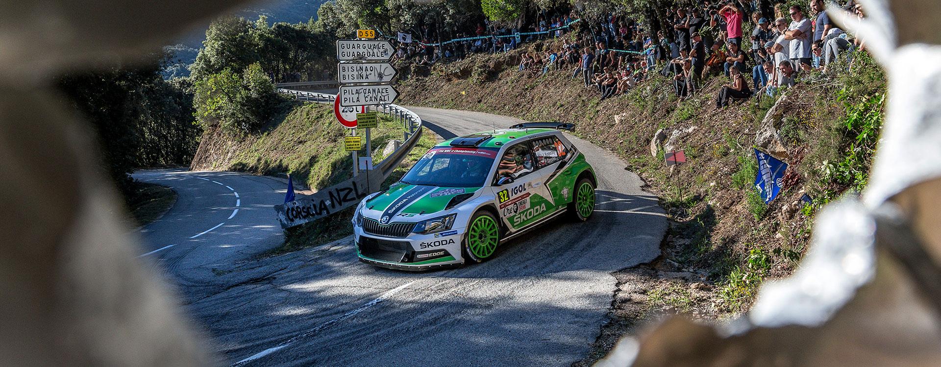 WRC Francie: Jan Kopecký bojuje o vedení ve WRC2