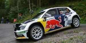 Raimund Baumschlager / Thomas Zeltner, ŠKODA FABIA R5, BRR Baumschlager Rallye & Racing Team. ŠKODA Rallye Liezen 2015. Photo: Harald Illmer