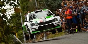 Umberto Scandola / Guido D'Amore, ŠKODA FABIA R5, Car Racing. Rally di Roma Capitale 2015