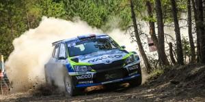 Julien Maurin / Olivier Ural, ŠKODA FABIA R5. Rallye Terre de Lozère - Sud de France 2016. Photo: Yacco