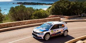 Teemu Suninen / Mikko Markkula, ŠKODA FABIA R5, Team Oreca. Rallye de France - Tour de Corse 2016