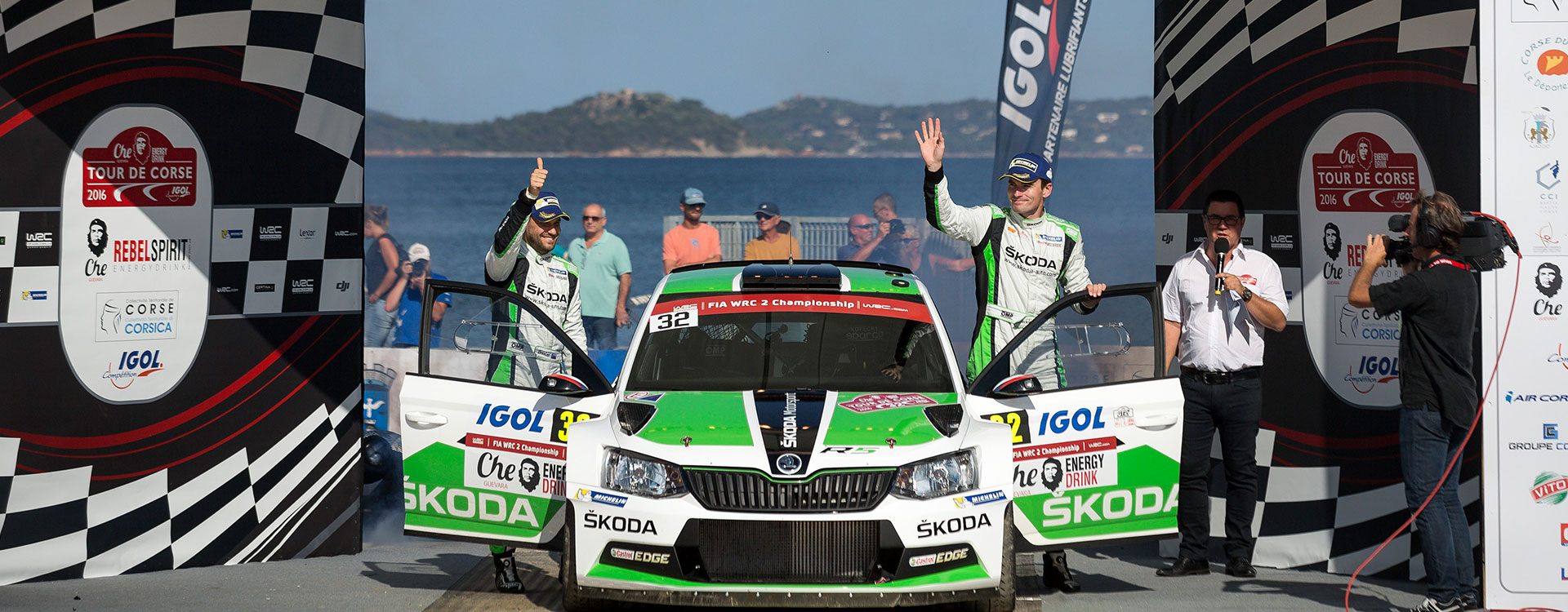 WRC France: 20th WRC2 podium finish of ŠKODA Motorsport with the FABIA R5