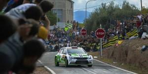 Pontus Tidemand / Emil Axelsson, ŠKODA FABIA R5, ŠKODA Motorsport. RallyRACC Catalunya - Costa Daurada 2015