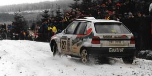 Stig Blomqvist / Benny Melander, ŠKODA FELICIA Kit Car, ŠKODA Motorsport. Network Q RAC Rally 1996