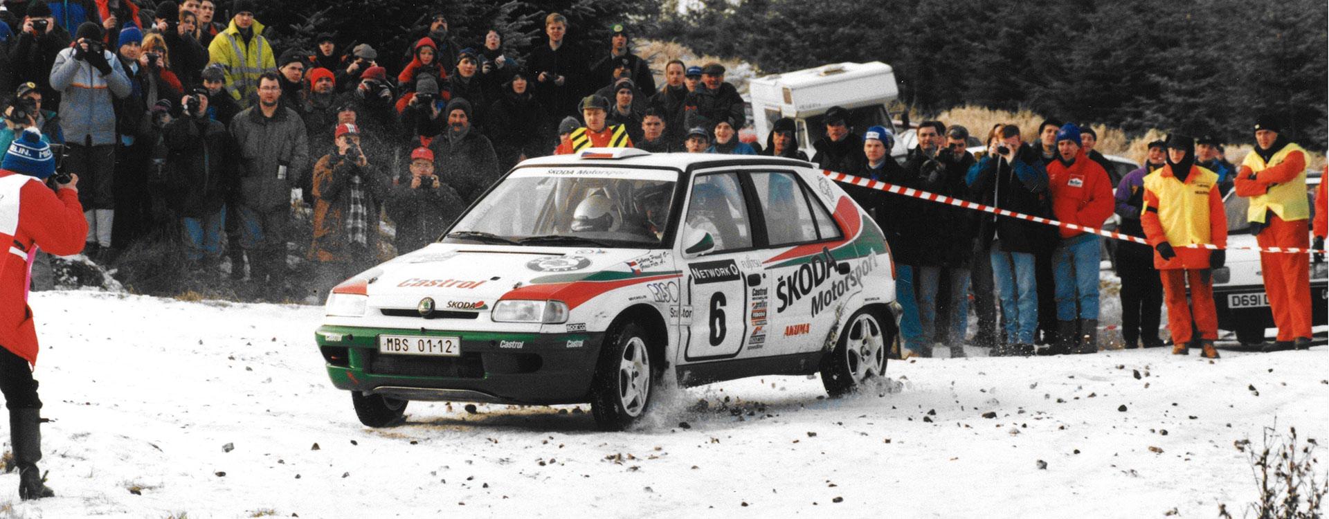 Z archivu: V roce 1996 Stig Blomqvist s vozem ŠKODA FELICIA KIT CAR dobyl v Británii stupně vítězů