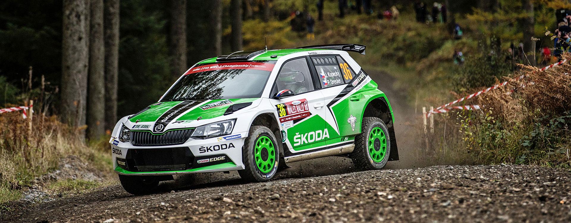 FOTO: ŠKODA Motorsport na Britské rally 2016
